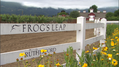 Portrait of a Winemaker Frog's Leap sign