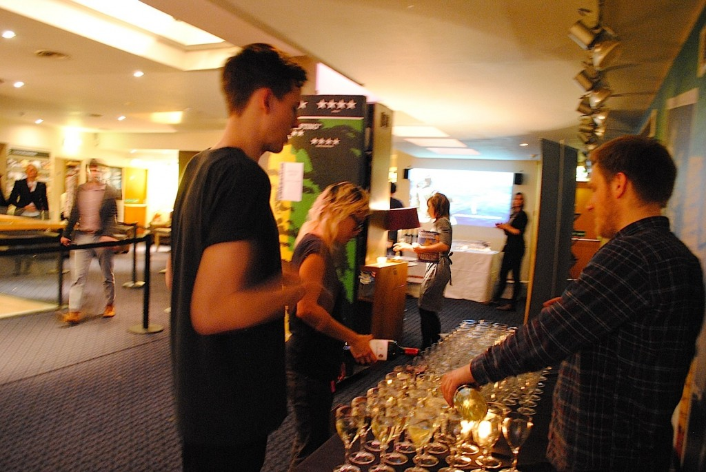 Pouring Drinks for the After Party for Symphony of the Soil Screening Curzon Theater, Soho London