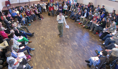 Transition Town Totnes: Rob Hopkins presenting at Transition meeting