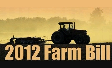A picture of a tractor over the text: 2012 Farm Bill