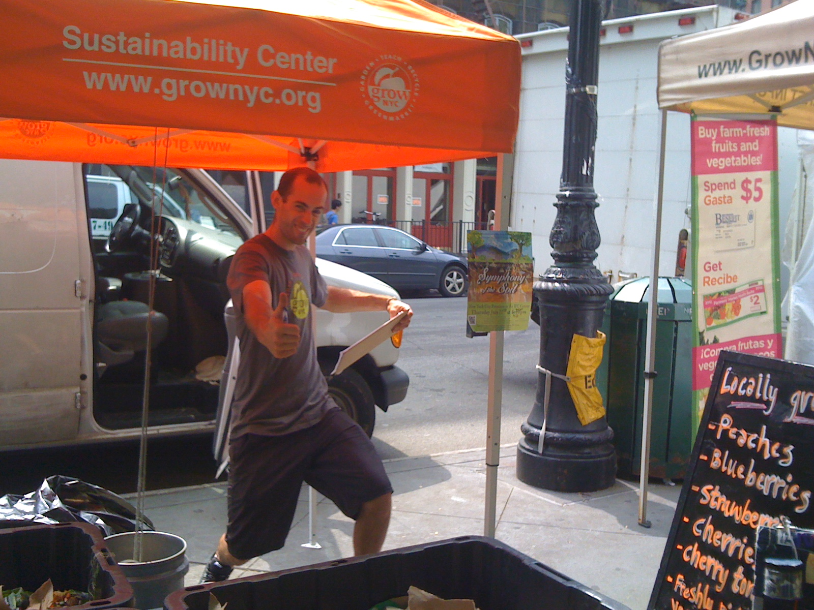 Grow NYC Compost Station at the TriBeCa Farmers Market