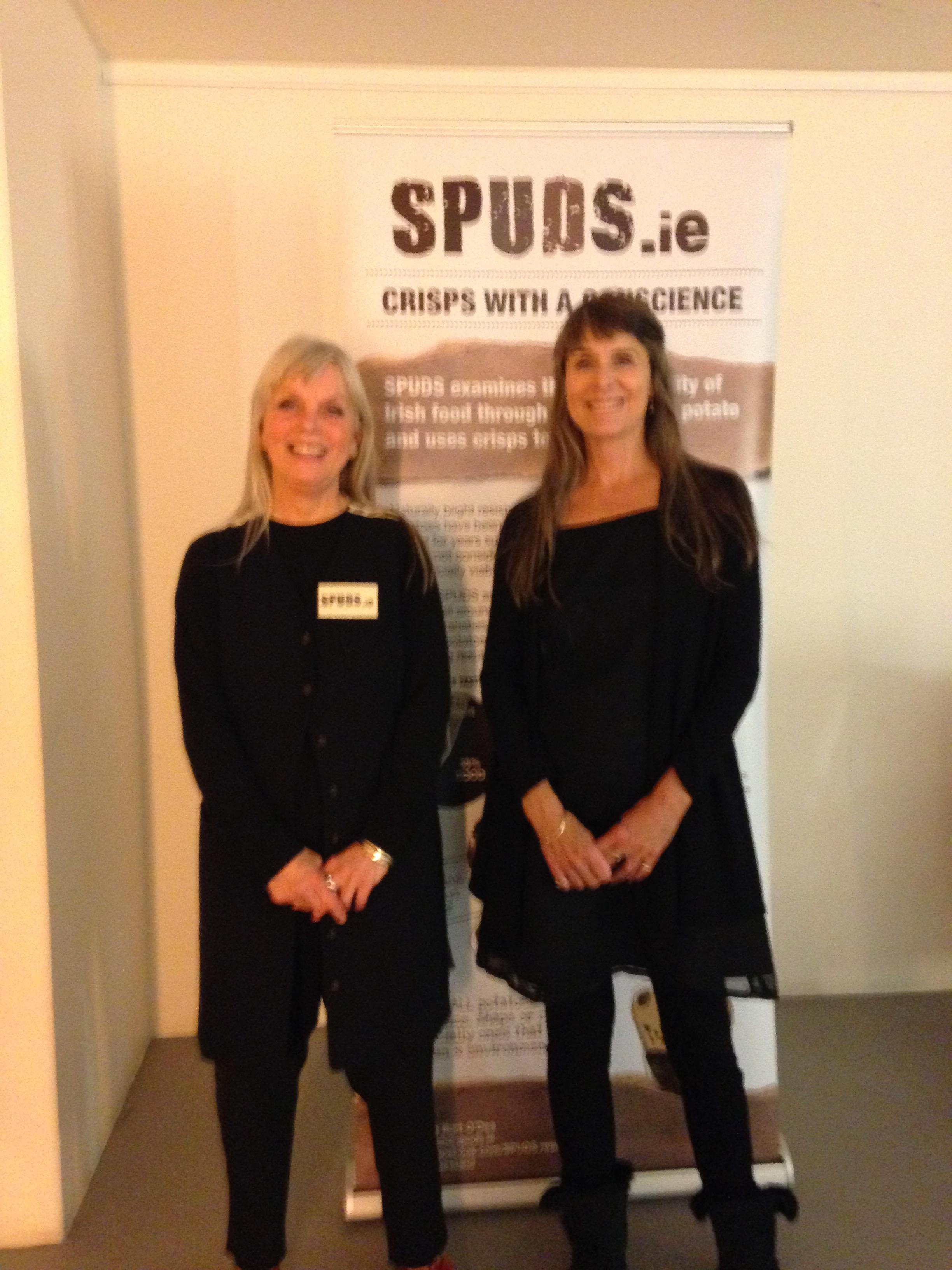 Kathe Burt-O'Dea and Deborah Garcia at the Lighthouse screening in Dublin